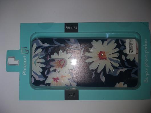 Накладка Phopart для Xiaomi Redmi Note 8 Pro со стразами, цветы №6760