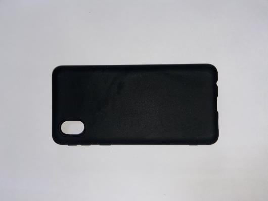 Накладка Silicone case NEW для Samsung A01 Core, черная