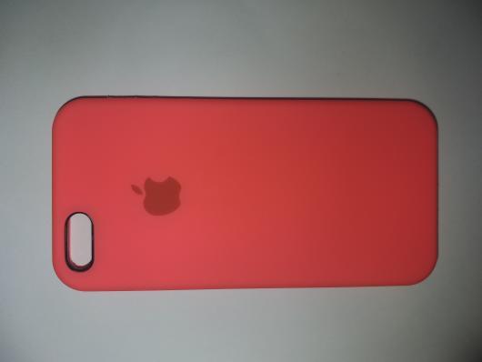Чехол Silicone Case для iPhone SE/ 5/ 5S C-класс, ярко-розовый
