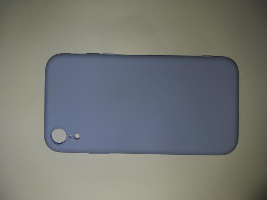 Чехол для iPhone XR Silicone Cover Slim, голубой