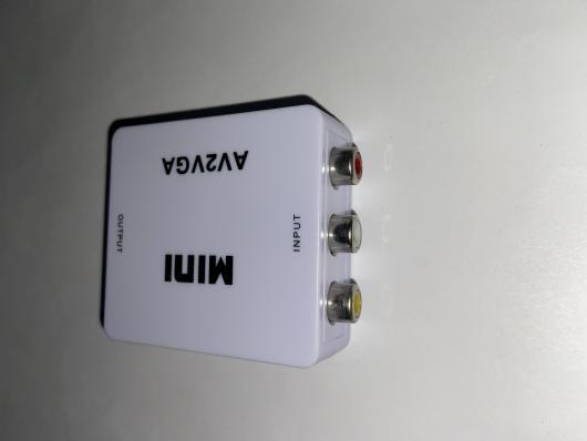 Адаптер Mini AV2VGA 1080p Converter to 3 rca (white)