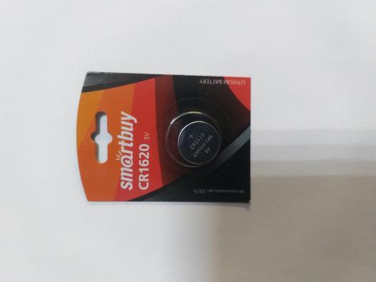 Литиевый элемент питания Smartbuy CR1620 1шт