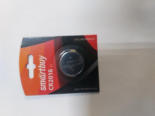 Литиевый элемент питания Smartbuy CR2016 1шт