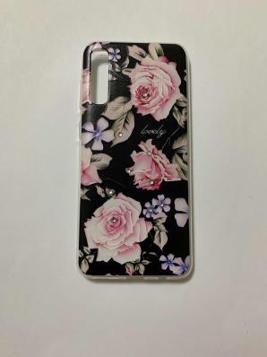 Накладка Phopart для Samsung A50/A50s/A30s со стразами, цветы №6762