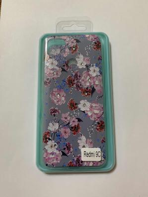 Накладка Phopart для Xiaomi Redmi 9C со стразами, цветы №5585