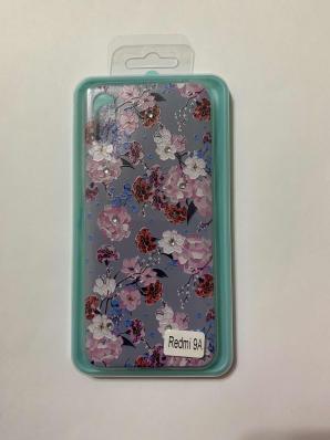 Накладка Phopart для Xiaomi Redmi 9A со стразами, цветы №5585