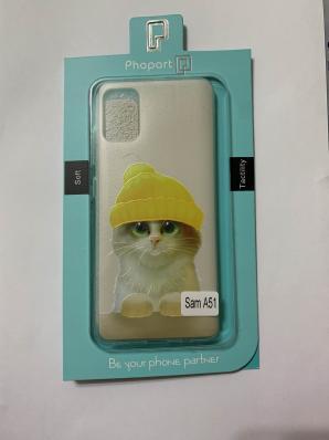 Накладка Phopart для Samsung A51, котёнок №5443