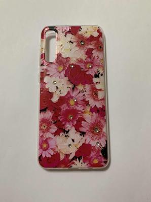 Накладка Phopart для Samsung A50/A50s/A30s со стразами, цветы №5171