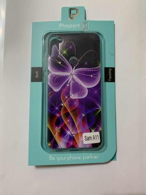 Накладка Phopart для Samsung A11/M11 со стразами, бабочка №6410