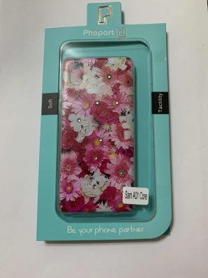 Накладка Phopart для Samsung A01 Core со стразами, цветы №5171