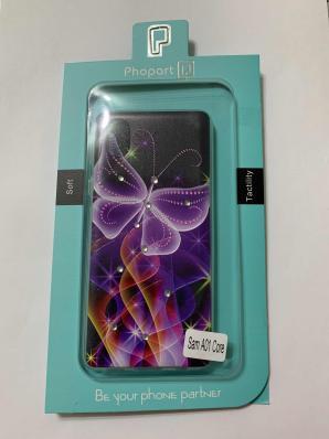 Накладка Phopart для Samsung A01 Core со стразами, бабочка №6410
