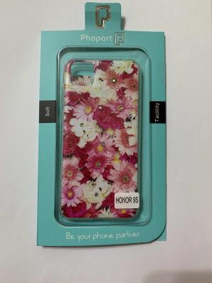 Накладка Phopart для Honor 9S/Y5P со стразами, цветы №5171