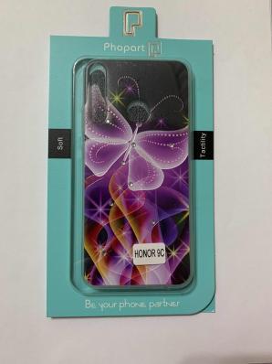 Накладка Phopart для Honor 9C/P40 Lite E со стразами, бабочка №6410