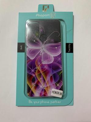 Накладка Phopart для Honor 9A со стразами, бабочка №6410