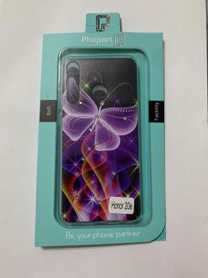 Накладка Phopart для Honor 20e со стразами, бабочка №6410