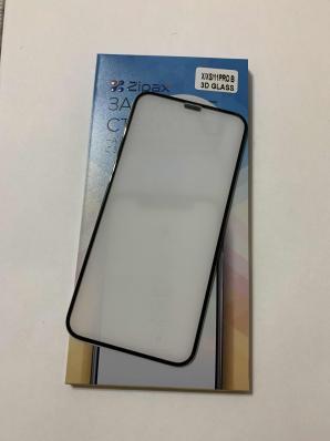 Защитное стекло Zipax 3D для iPhone 11 Pro, X, XS, с сеткой на динамик, черный