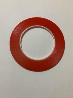 Скотч акриловый двухсторонний, прозрачный, ширина 3 мм, толщина 0.2 мм, длина 25 м