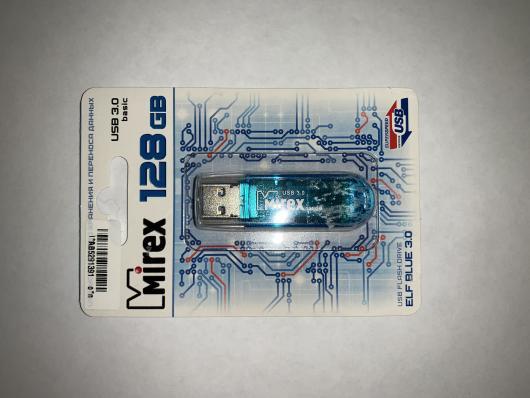 Флэш-накопитель 128Гб Mirex Elf Blue USB3.0, синий