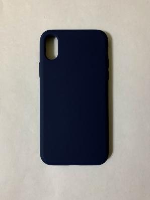 Силиконовый чехол Full Case для iPhone XS/ X, темный ультрамарин