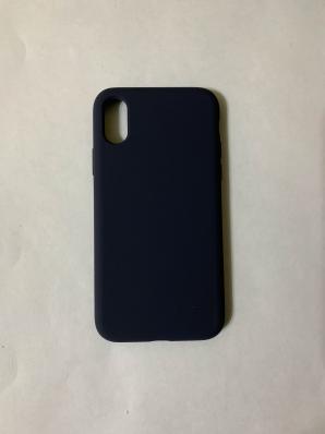 Силиконовый чехол Full Case для iPhone XS/ X, темно-синий