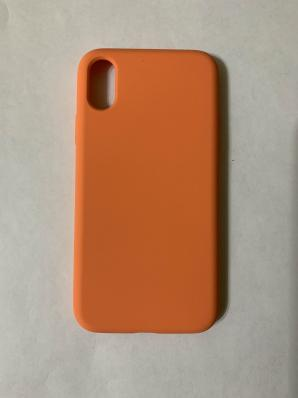 Силиконовый чехол Full Case для iPhone XS/ X, золотисто-оранжевый