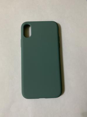 Силиконовый чехол Full Case для iPhone XS/ X, зеленая сосна