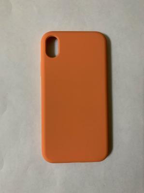 Силиконовый чехол Full Case для iPhone XR, золотисто-оранжевый