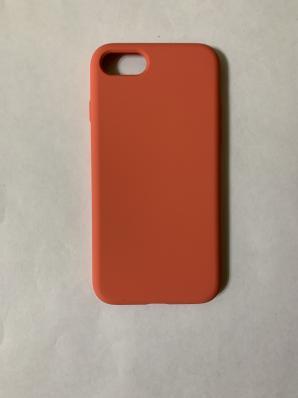Силиконовый чехол Full Case для iPhone SE (2020)/ 8/ 7, оранжево-розовый