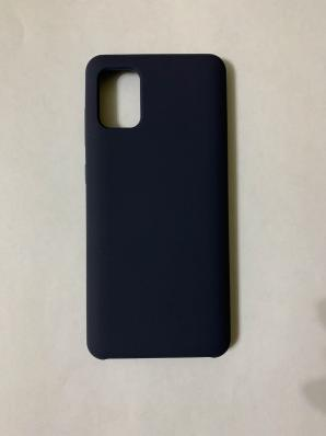 Чехол Silicone Cover для Samsung Galaxy A31, A315F (2020) темно-синий