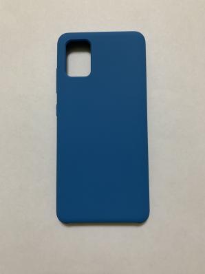 Чехол Silicone Cover для Samsung Galaxy A51, A515F (2019) синий