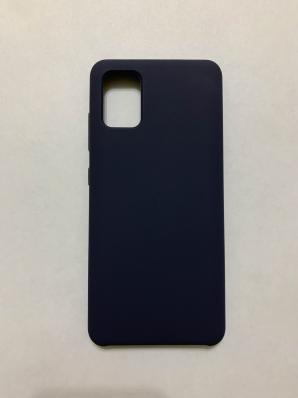 Чехол Silicone Cover для Samsung Galaxy A51, A515F (2019) темно-синий