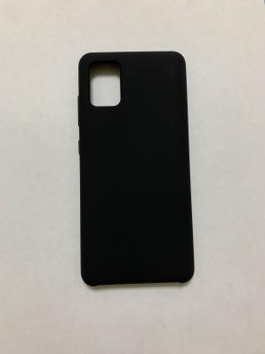Чехол Silicone Cover для Samsung Galaxy A51, A515F (2019) черный