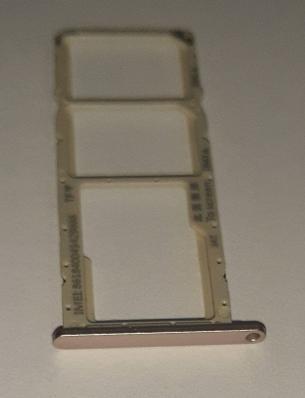 Держатель SIM карты для Huawei Honor 8a JAT LX1 золото