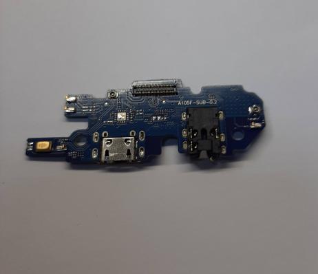 Плата нижняя для Samsung A015F Galaxy A01 с разъемом зарядки (системным)