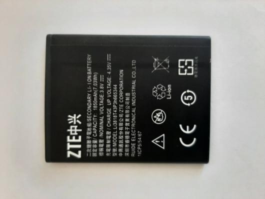 Аккумулятор (АКБ) для ZTE Blade GF3 (Li3818T43P3h665344) EURO (OEM)