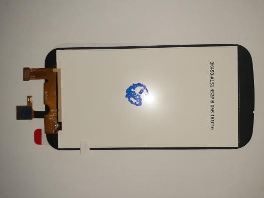 LCD дисплей для Nokia 1 в сборе с тачскрином (черный)