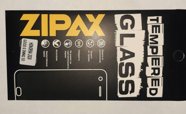 Защитное стекло Zipax для Honor 9A (2020)/ Huawei Y6P (2020)