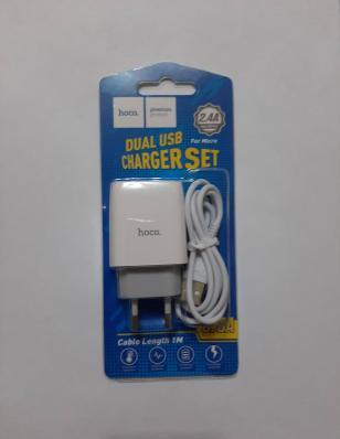 СЗУ HOCO C73A Glorious Dual Port Charger Set (Micro) (EU) (белое)